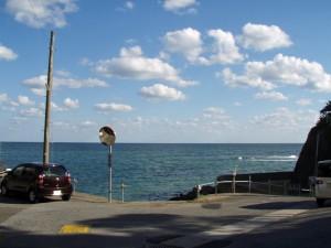 千葉県いすみ市 飯縄神社前の海