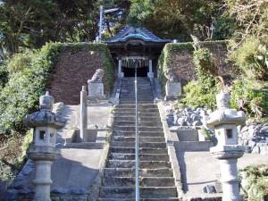 千葉県いすみ市 飯縄神社 階段