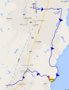 千葉県いすみ市 飯縄神社 経路 地図